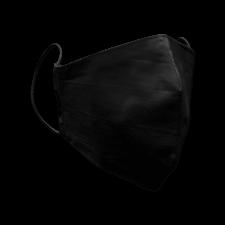 Защитная многоразовая маска Трехслойная с карманом черная